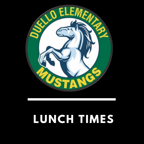 Lunch Times and Nutrition Information
