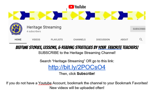 Heritage YouTube Channel