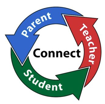 ARROWS WITH THE WORDS PARENTS, TEACHERS AND STUDENTS THAT FORM A CIRCLE