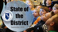 title slide for state of the district presentation