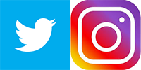 twitter and instagram