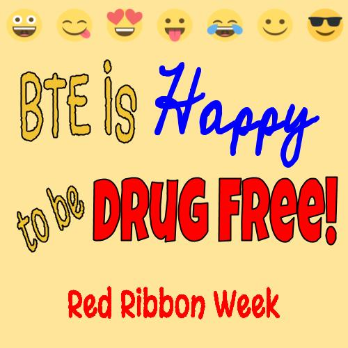 Boone Trail is Happy to Be Drug Free.  Red Ribbon Week 2018