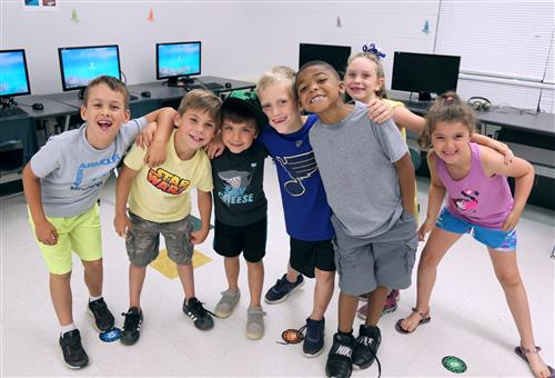 Kids at Lakeview Elementary Summer School